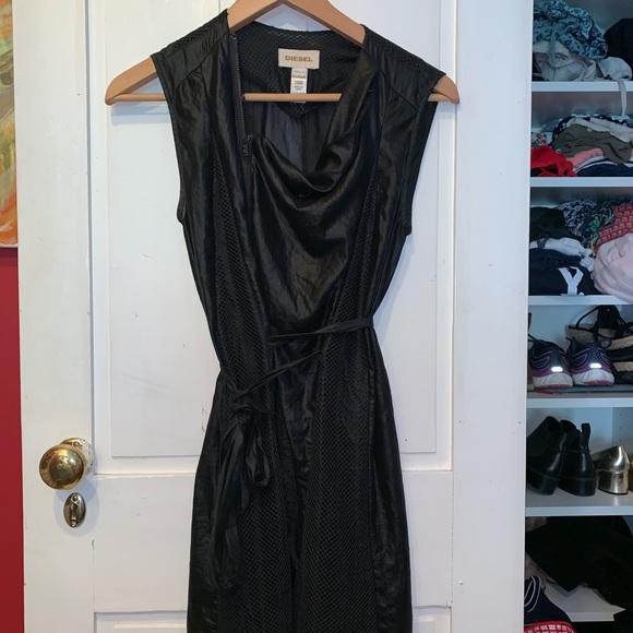 Diesel Dresses & Skirts - Diesel black asymmetrical zip dress! Like new!